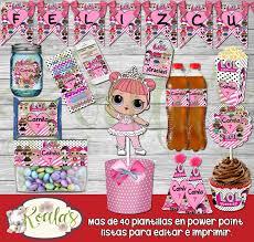 Lol Surprise Kit Imprimible Editable Candy Bar Mesa De Dulces