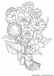 Bos Bloemen Met Afbeeldingen Kleurplaten Bloem Kleurplaten