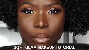 soft glam makeup tutorial dark skin