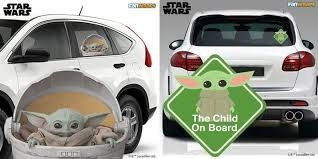 The Mandalorian Fans Can Now Own Baby Yoda As A Car Sticker