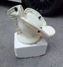 pigeon sculpture cement gypsum concrete