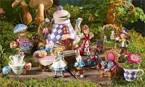 alice in wonderland miniature figurines