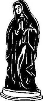 Virgin Mary Decal Sticker