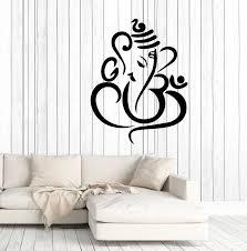 Vinyl Wall Decal Ganesha Elephant God Hinduism Stickers 3347ig Wallstickers4you