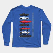 chevy trucks long sleeve t shirt