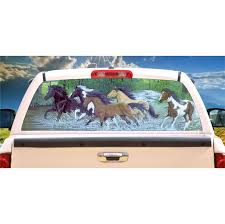 Horse Free Spirits Window Mural Tint Decal Custom Tire Covers