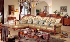 corner leather china royal wooden sofa set