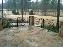 exterior wrought iron handrail