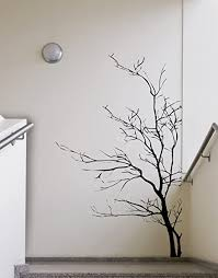 Amazon Com Stickerbrand Nature Vinyl Wall Art Bare Tree Branch Wall Decal Sticker Black 60 X 35 Easy To Apply Removable Arts Crafts Sewing