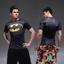 fashion batman fitness t shirt men s