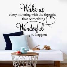 Wake Up Every Morning Dream Quote Wall Stickers Art Room Removable Decals Diy Home Wallpaper Living Room Pegatinas De Pared Heart Wall Stickers Home Art Wall Decals From Bright689 20 31 Dhgate Com