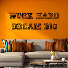 Vinyl Wall Decal Work Hard Dream Big Quote Saying Phrase Motivational Wallstickers4you