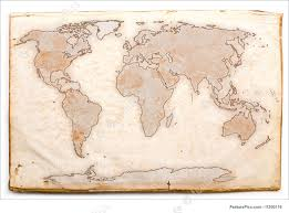 signs and info old world map stock