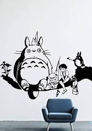 Amazon Com My Neighbor Totoro Wall Decals Decor Vinyl Stickers Gmo2083 Home Kitchen