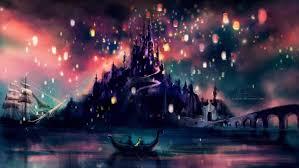 alicexz sky lanterns tangled castle
