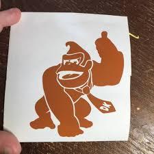 Donkey Kong Vinyl Decal Etsy