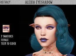 goth sims 4 makeup