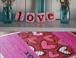 homemade valentine cards and banners