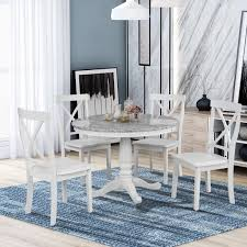 Kitchen Dining Table Set For 4 Urhomepro 5 Piece Wood Dining Table Set With 4 Chairs