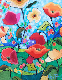 Poppy Painting by Peggy Davis