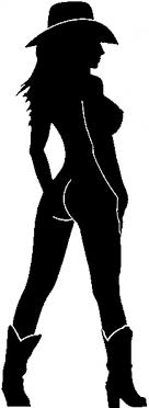 Nude Cowgirl In Boots And Hat Car Or Truck Window Decal Sticker Rad Dezigns