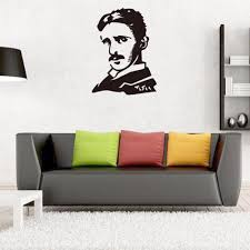 Scientist Nikola Tesla Vinyl Famous People Portrait Diy Art Mural Wallpaper Livingroom Laboratory Wall Decal Stickers Home Decor Stickers Home Decor Home Decorwall Decals Stickers Aliexpress