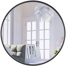 com black round wall mirror 1