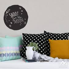 Shoot For The Moon Space Wall Quote From Fabric Decal To Graphic Art Wallternatives