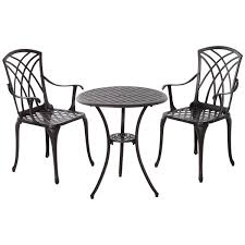 pcs coffee table and 2 chairs outdoor