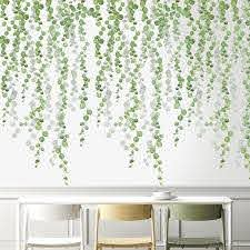 Plants Wall Stickers Green Leaves Wall Decals Wall Paper Diy Vinyl Murals For Bedroom Living Room Kids Room Wall Decoration Wall Stickers Aliexpress
