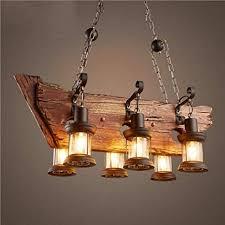 niuyao 6 heads vintage wooden lantern