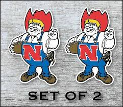 Nebraska Huskers Sticker Decal Vinyl Set Of 2 Cornhole Truck Car Ebay