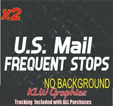 U S Mail Frequent Stops Car Window Decal Rural Carrier Truck Usa Klwgraphics In 2020 Window Decals Car Window Decals Car Decals Vinyl
