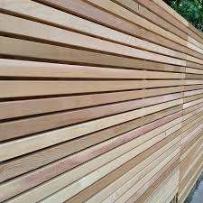 Cedar Slatted Fence Panels In 2020 Slatted Fence Panels Fence Panels Cedar Fence