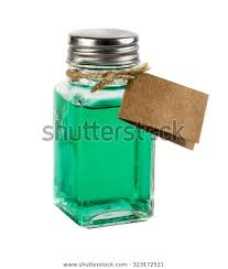 vintage style glass jar containing