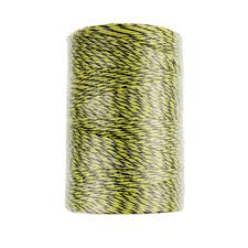 Farmily Portable Electric Fence Polywire 1312 Feet 400 Meter 6 Conductor Yellow And Black Color Structures Hardware Agricultural Fencing