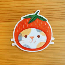 Strawberry Hat Sticker Nellie Le
