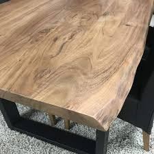 live edge dining table with u legs