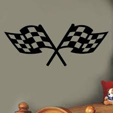 Zoomie Kids Checkered Racing Flags Sports Wall Decal Reviews Wayfair