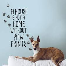 Wall Pops Black Home With Paw Prints Wall Quote Decal Dwpq2900 The Home Depot