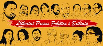 Pancarta / Cartell pel balcó – Llibertat Presos Polítics i Exiliats – Olga Palahi Jordi