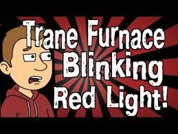 trane furnace blinking red light you