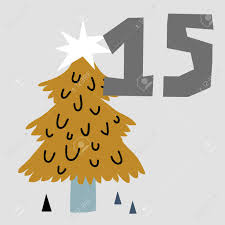 Vector Illustration Of Advent Calendar Page In Scandinavian Style Royalty Free Cliparts Vectors And Stock Illustration Image 105288032