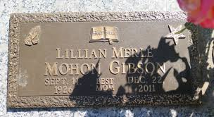 Lillian Merle Mohon Gibson (1926-2011) - Find A Grave Memorial