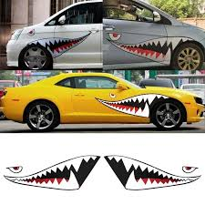 2020 Pair Diy Shark Mouth Tooth Teeth Pvc Car Sticker Cool Decals Waterproof Auto Boat Decoration Stickers Car Styling From Blake Online 11 3 Dhgate Com