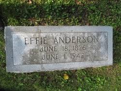 Effie Anderson (1876-1942) - Find A Grave Memorial