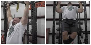 strongman vs navy seal in a pull up