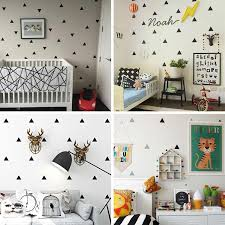 Baby Boy Room Little Triangles Wall Sticker For Kids Room Decorative Stickers Children Bedroom Nursery Wall Decal Stickers Wall Stickers Aliexpress