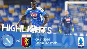 Highlights Serie A - Napoli vs Genoa 0-0 - YouTube