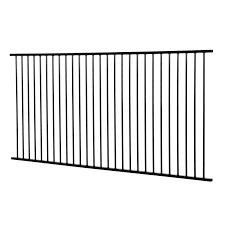 Protector Aluminium 2450 X 1200mm Black Flat Top Pool Fence Panel Fence Panels Garden Fence Panels Aluminum Fence